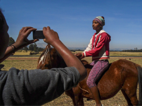 Cameras empowering girl athletes in Ethiopia